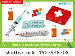 find and mark two identical... | Shutterstock .eps vector #1927948703