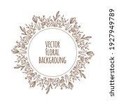 spring hand drawn flower... | Shutterstock .eps vector #1927949789