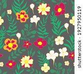 seamless pattern flower and... | Shutterstock .eps vector #1927950119