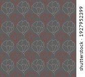 flower buds contour vector... | Shutterstock .eps vector #1927952399