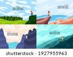 vector illustration. travel... | Shutterstock .eps vector #1927955963