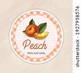 round vintage jam label for a... | Shutterstock .eps vector #1927958576