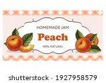 horizontal peach jam label for... | Shutterstock .eps vector #1927958579
