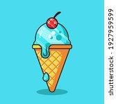 ice cream vector icon... | Shutterstock .eps vector #1927959599