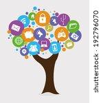 multimedia design over gray... | Shutterstock .eps vector #192796070