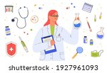vaccine discovery concept.... | Shutterstock .eps vector #1927961093