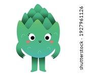 cute artichoke character ... | Shutterstock .eps vector #1927961126
