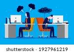 job dissatisfaction   two... | Shutterstock .eps vector #1927961219