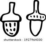 couple of cute acorns. oakwood... | Shutterstock .eps vector #1927964030