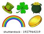 patricks day icon set. vector... | Shutterstock .eps vector #1927964219