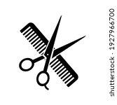 comb and scissors icon. vector...   Shutterstock .eps vector #1927966700