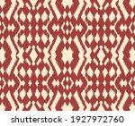 ikat border. geometric folk...   Shutterstock .eps vector #1927972760
