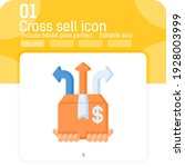 cross sell icon vector with... | Shutterstock .eps vector #1928003999