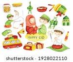 hand drawn eid mubarak or idul...   Shutterstock . vector #1928022110