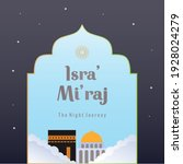 isra and mi'raj greeting... | Shutterstock .eps vector #1928024279