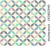 seamless geometric circles... | Shutterstock .eps vector #192802940