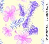 pink tropical illustration.... | Shutterstock . vector #1928065676