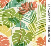 natural jungle seamless pattern....   Shutterstock .eps vector #1928094779