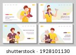 set of web pages with fathers... | Shutterstock .eps vector #1928101130