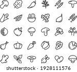 food line icon set   salad ... | Shutterstock .eps vector #1928111576