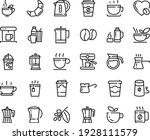 food line icon set   hot cup ...   Shutterstock .eps vector #1928111579