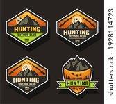 pastel color hunting logo design | Shutterstock .eps vector #1928114723