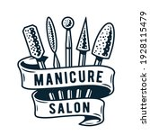 emblem with set of manicure... | Shutterstock .eps vector #1928115479