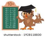 owl teacher demonstrates... | Shutterstock .eps vector #1928118830