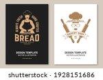 fresh bread  bakery shop flyer  ... | Shutterstock .eps vector #1928151686