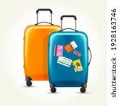 modern plastic wheeled... | Shutterstock .eps vector #1928163746