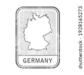 germany stamp with contour of...   Shutterstock .eps vector #1928165273