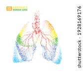abstract human lung....   Shutterstock .eps vector #1928169176