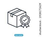delivery guarantee box icon.... | Shutterstock .eps vector #1928172629