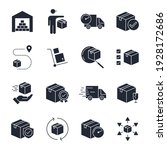set of delivery logistics icon. ... | Shutterstock .eps vector #1928172686