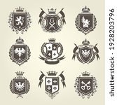 royal blazons and coat of arms  ... | Shutterstock .eps vector #1928203796
