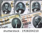 Gold Certificates - USA currency issued in 1882