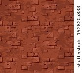 seamless texture of stone red...