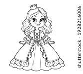 Cute Cartoon Princess Girl In...