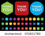 thank you icon | Shutterstock .eps vector #192821780