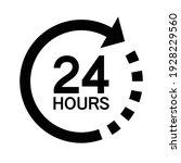 twenty four hour with arrow...   Shutterstock .eps vector #1928229560