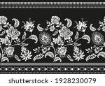 black and white ornamental...   Shutterstock .eps vector #1928230079