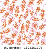 print  brush strokes  orange...   Shutterstock . vector #1928261306