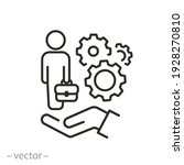assistance employee icon ... | Shutterstock .eps vector #1928270810
