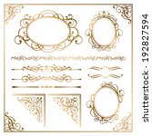 frame | Shutterstock .eps vector #192827594