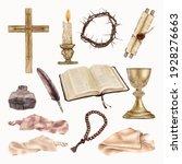 religious easter clipart... | Shutterstock .eps vector #1928276663