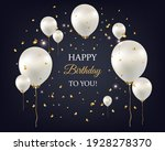happy birthday card with white... | Shutterstock .eps vector #1928278370