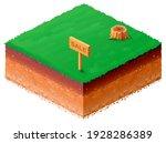 land plot for sale isometric 3d ... | Shutterstock .eps vector #1928286389