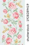 floral stripe elegant rose pink   Shutterstock . vector #1928289419