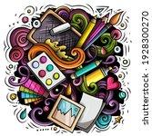 artist cartoon doodle... | Shutterstock .eps vector #1928300270