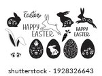 set of easter elements vector...   Shutterstock .eps vector #1928326643